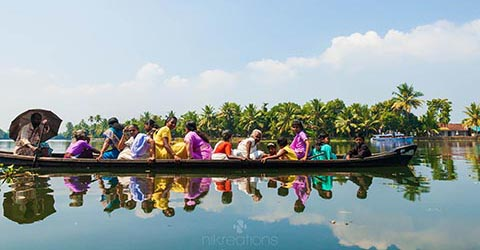 Kerala Backwater Taxi, India