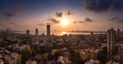 Mumbai Skyline, India