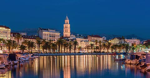 Split skyline, Croatia